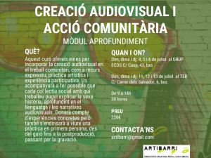 cartell curs audiovisual