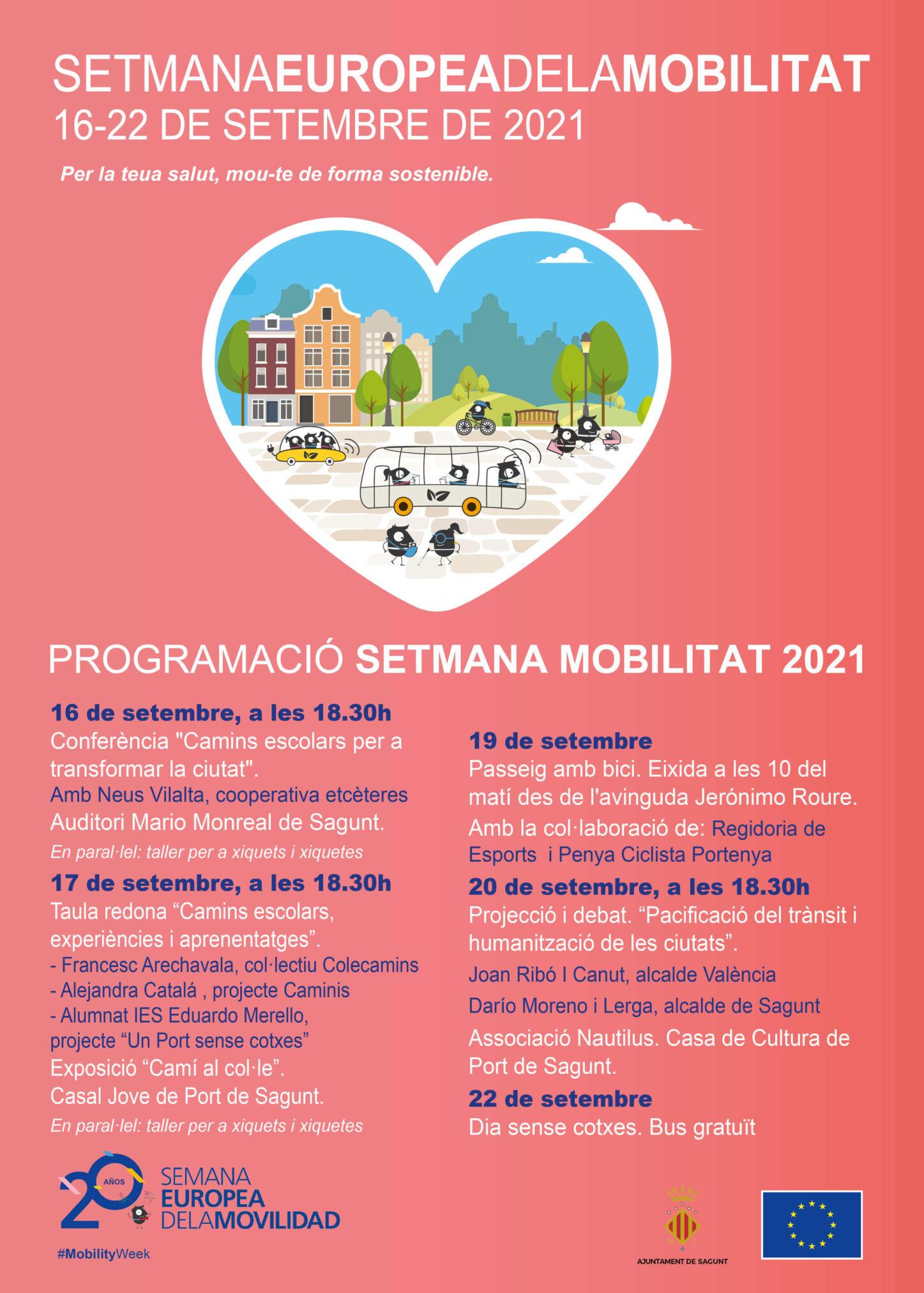 Camí escolar espai amic a la Setmana Europea de la Mobilitat